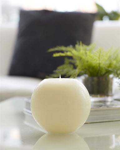 Simplux Round Candle w/ Moving Flame