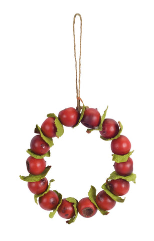 "Berry Candle Ring/Wreath 6.5""D"