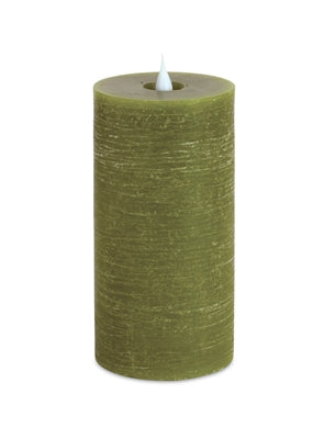 Green Simplux LED Designer Candle
