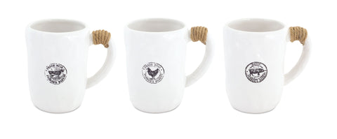 Ceramic Farm Animal Mugs-3 Animal Styles