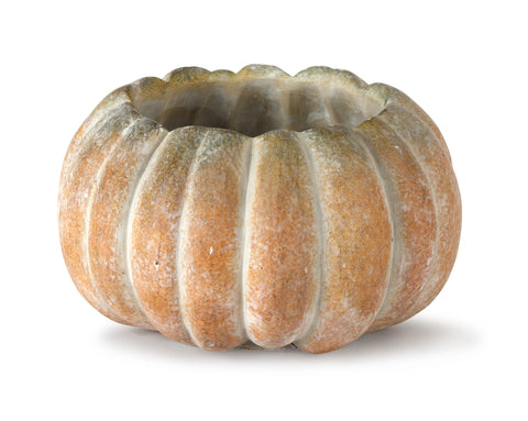 Cement Pumpkin Planter