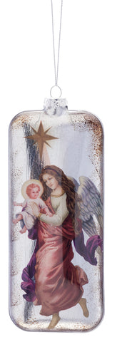 Angel and Jesus Ornament