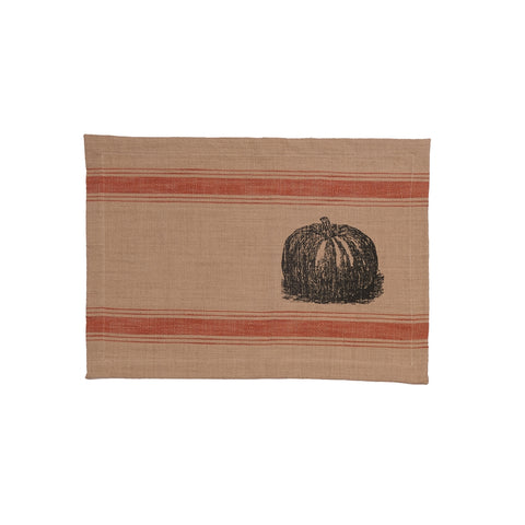 Pumpkin Feed Sack Placemat