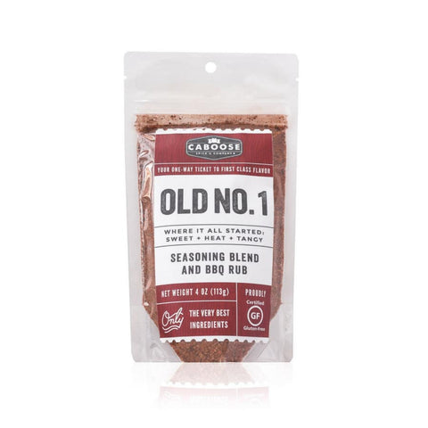 Old No. 1 Sweet Heat+Tangy Seasoning Blend & Rub, 4 oz pouch