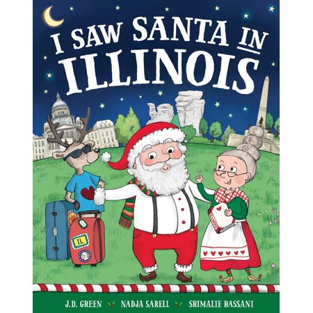 I Saw Santa in Illinois Children's Book