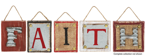 Rustic Christmas - Monogram Ornaments