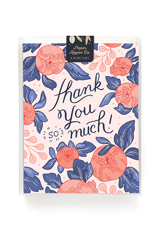 Thank You Bouquet Card - Box Set of 8