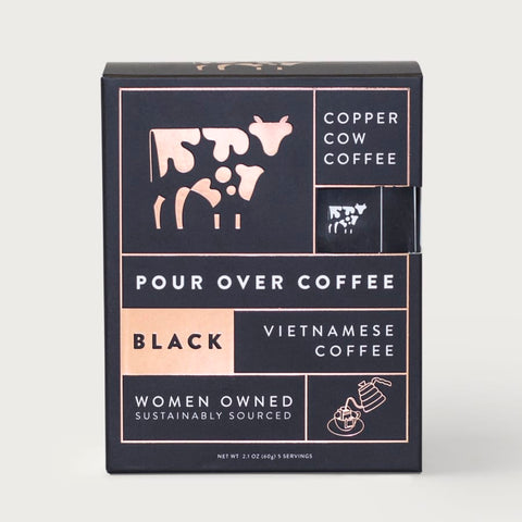Black Pour Over Coffee Kit