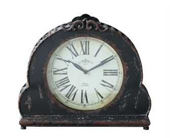 Metal Mantel Clock, Black