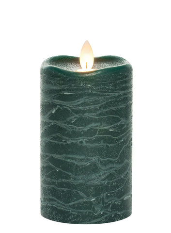 Frosted Flameless Candle - Green