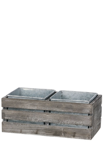 Rectangular Two Pot Crate