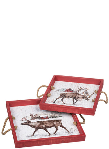 Large Reindeer Ranch Tray