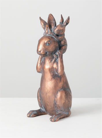 Copper Rabbit with Bunny