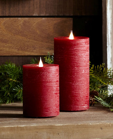 Red Simplux LED Designer Candle