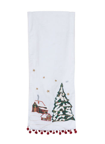 Winter Scene Table Runner