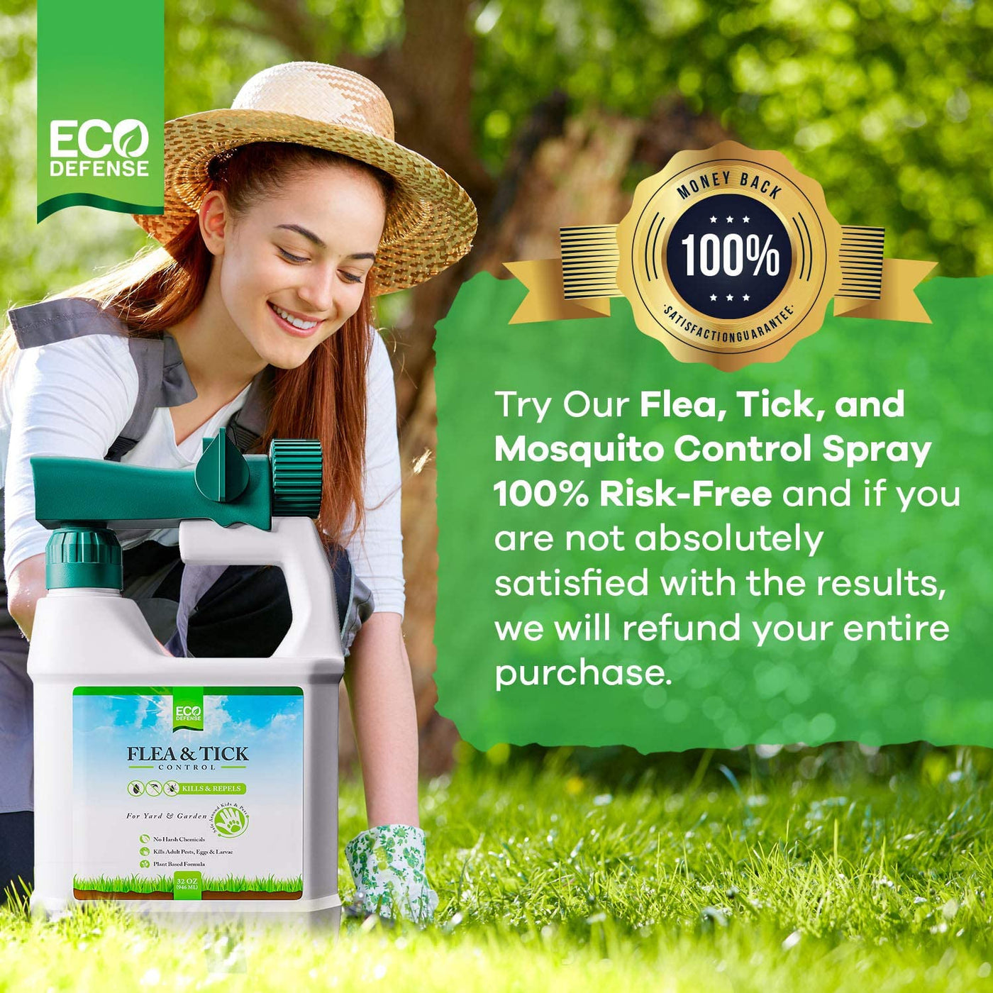 Flea, Tick, and Mosquito Spray for Yard