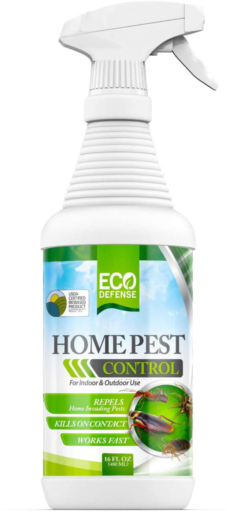Eco Defense USDA Biobased Pest Control Spray - Ant, Roach, Spider, Bug Killer and Repellent - Natural Indoor & Outdoor Repellent Spray - Child & Pet Friendly