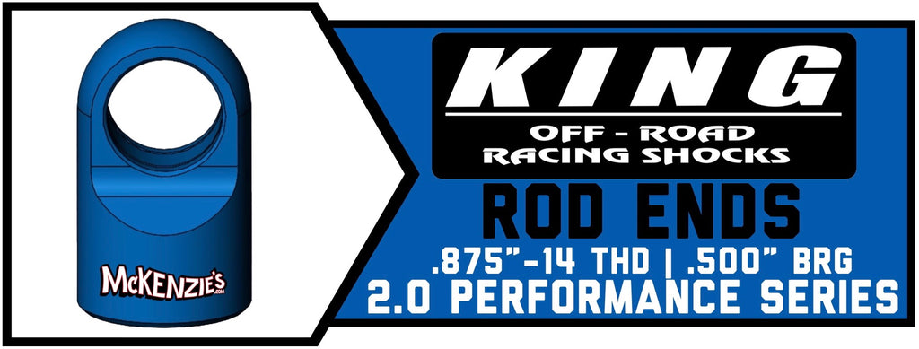 "King Shock Rod Ends 2.0"" x .875"" 