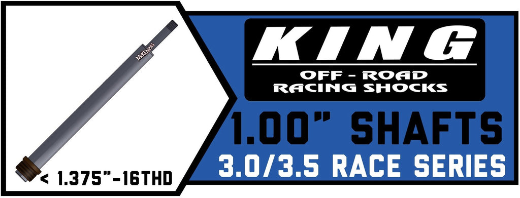 "King Shock Shafts 3.0""/3.5"" x 1.00"" 