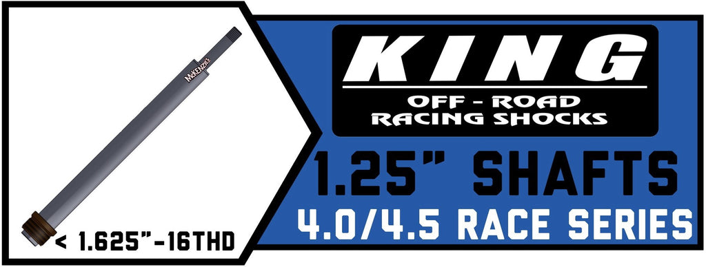 "King Shock Shafts 4.0""/4.5"" x 1.25"" 