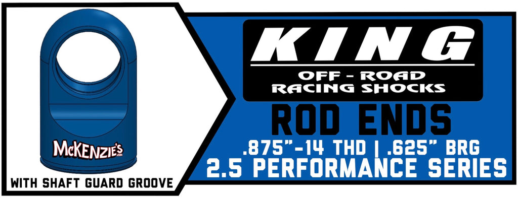 "King Shock Rod Ends w/Shaft Guard Groove 2.5"" x .875"" 