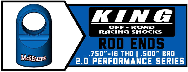 "King Shock 2.0 x .750"" Shaft Rod Ends"