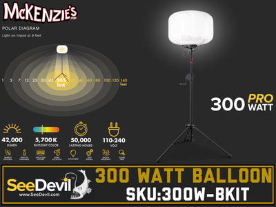 See Devil 300 Watt Balloon Light Kit