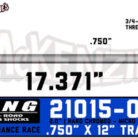 "King Shocks 21015-012 | 2.0 x 12"" Travel Shaft"