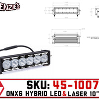 "Baja Designs 45-1007 | OnX6 10"" Bar 