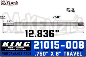 "King Shocks 21015-008 | 2.0 x 8"" Travel Shaft"