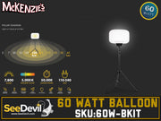 See Devil 60 Watt Balloon Light Kit