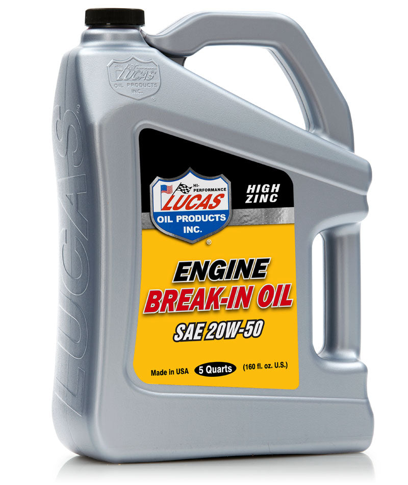20W-50 Break In Engine Oil - High Zinc - Lucas Oil