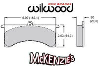 Wilwood 7520 Series Brake Pads - 5.99