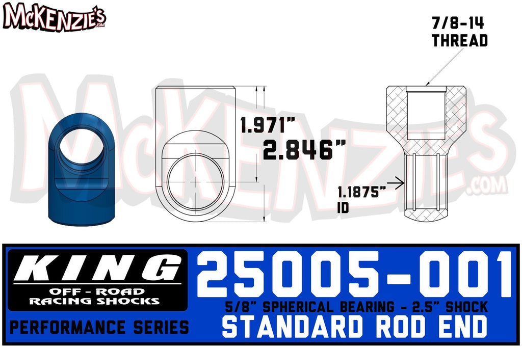 "King 25005-001 | 2.5"" Shock Rod End"