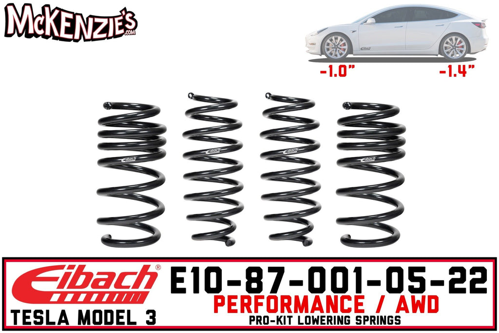 Eibach E10-87-001-05-22 | Lowering Spring Pro-Kit | Tesla Model 3 Performance AWD