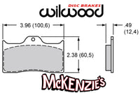 Wilwood 7112 Series Brake Pads - 3.96