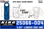 "King 25066-004 | 2.5"" Shock Rod End w/Shaft Guard Groove"