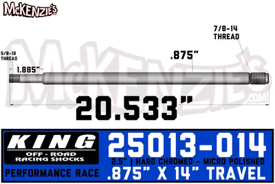 King 25013-014 | 2.5 x 7/8 Shaft