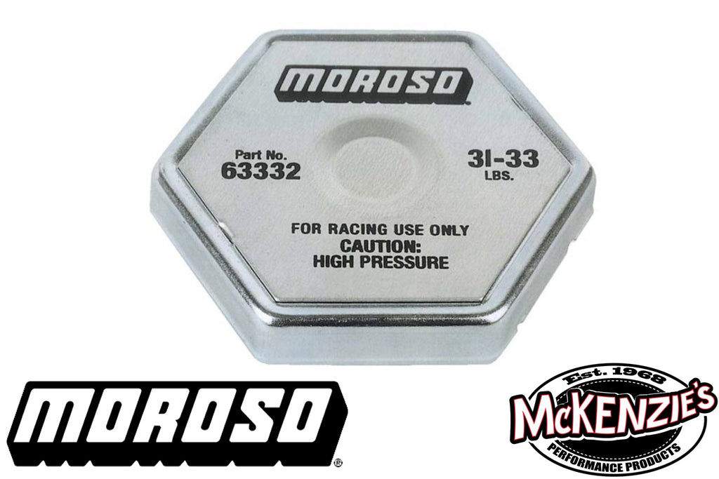 Racing Radiator Cap 31-33 PSI - Moroso