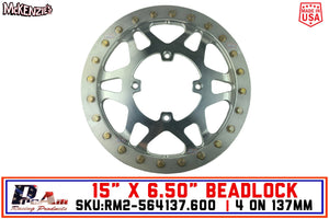 "SXS 4 on 137mm Forged Beadlock Wheel | 6"" Backspacing 