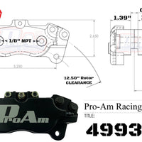 ProAm 4-Piston Caliper 4993RN