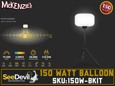 See Devil 150 Watt Balloon Light Kit