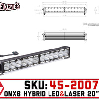 "Baja Designs 45-2007 | OnX6 20"" Bar 