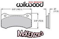 Wilwood 6617 Series Brake Pads - 5.87
