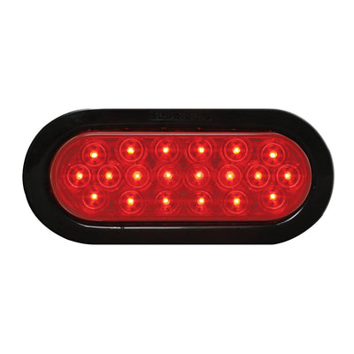 Oval Led Light - Red
