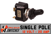 K4 Sealed Toggle Switches - Single Pole