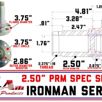 "ProAm 6 on 6.50"" HD Front Prerunner Truck Hubs 