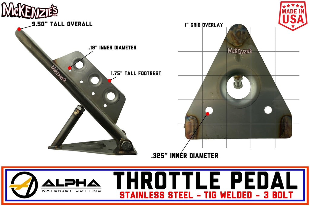 P0013 Alpha Throttle Pedal - 3 Bolt