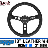 "PRP G110 | 13"" Leather x 3"" Dish 6-Bolt 