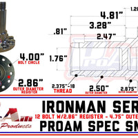 "ProAm 2.50"" 12-Bolt PRM Spec Snout"